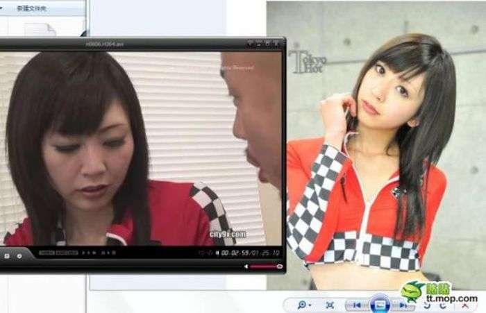 Дівчата з японського порно в кіно і в реальності (8 фото)