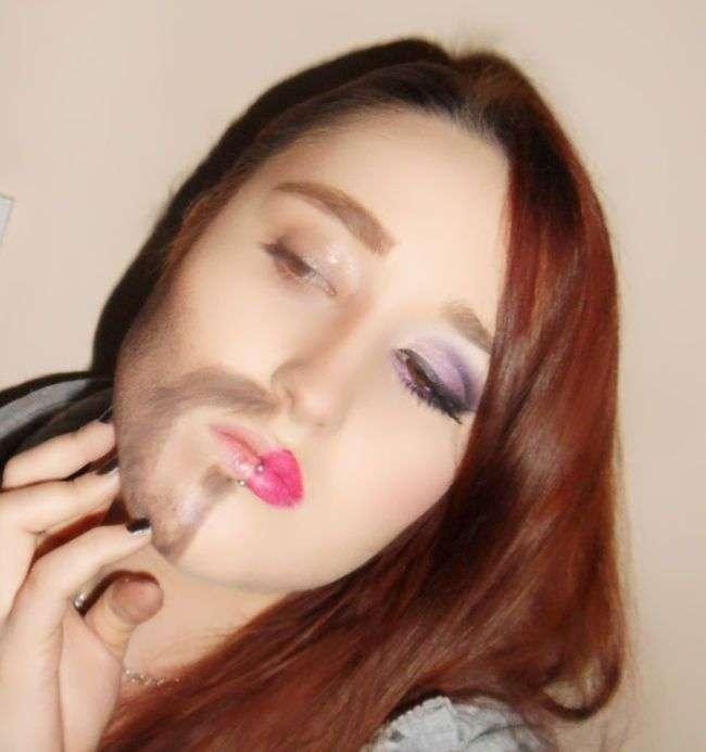 Дива перевтілення, завдяки макіяжу (3 фото)