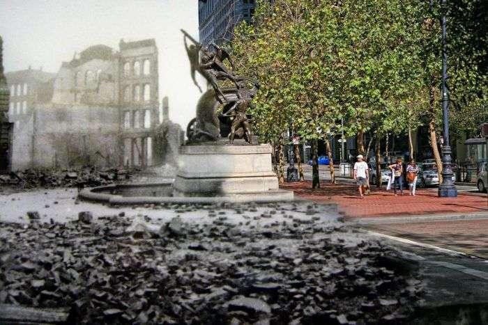 Сан-Франциско після землетрусу 1906 року і в наші дні (25 фото)