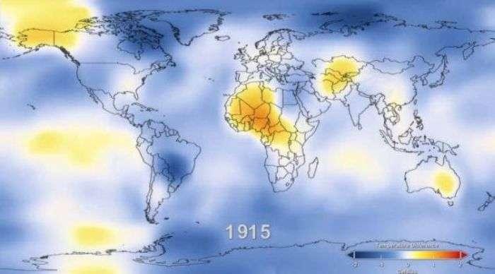 Глобальне потепління за статистикою з 1888 по 2011 (6 фото + відео)