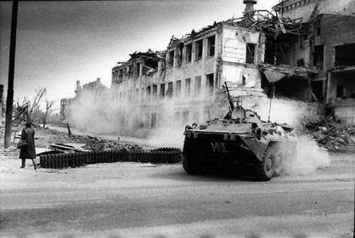 Архівні знімки чеченської війни 1994-1995 (69 фото)