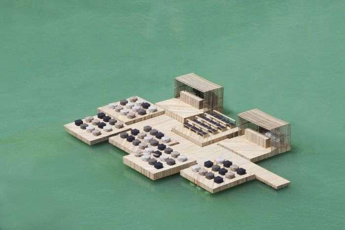 Незвичайні споруди у воді (31 фото)
