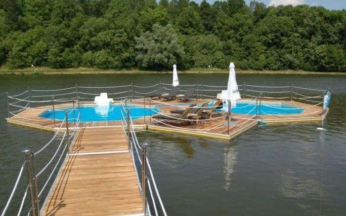 Плаваючі басейни для водойм (49 фото)