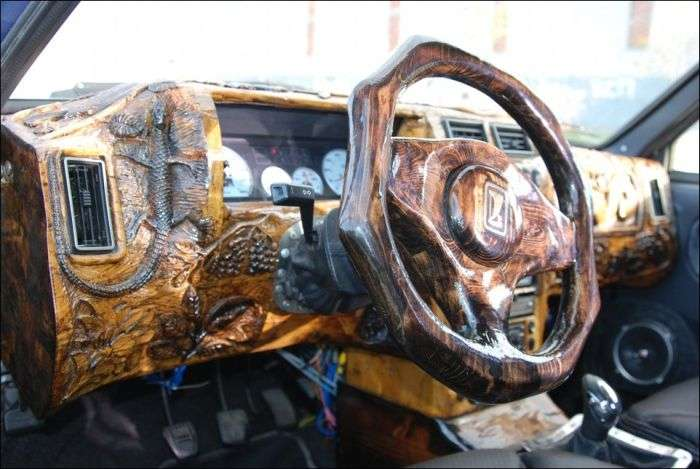Деревяний тюнінг салону авто своїми руками (10 фото)